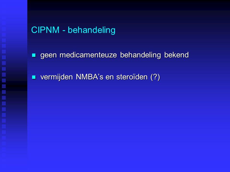 CIPNM - behandeling geen medicamenteuze behandeling bekend