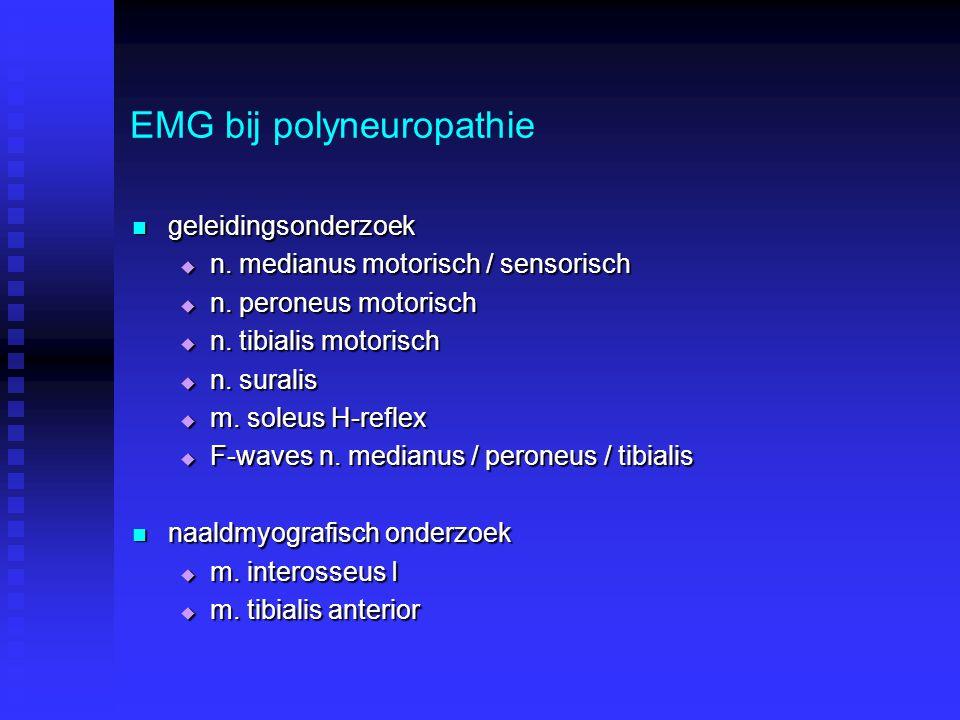 EMG bij polyneuropathie