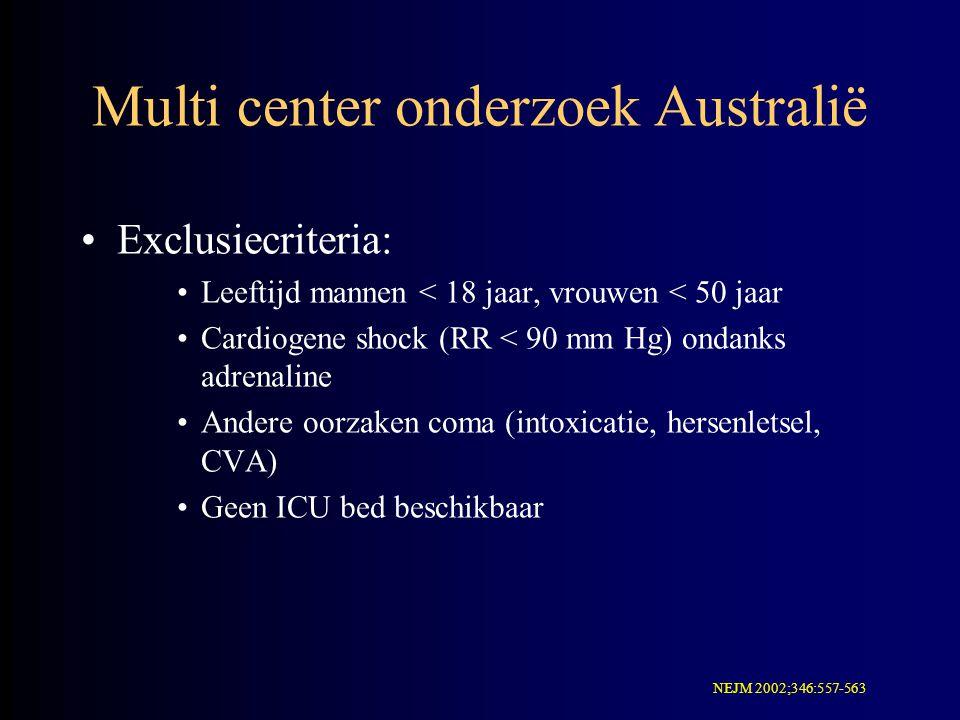 Multi center onderzoek Australië