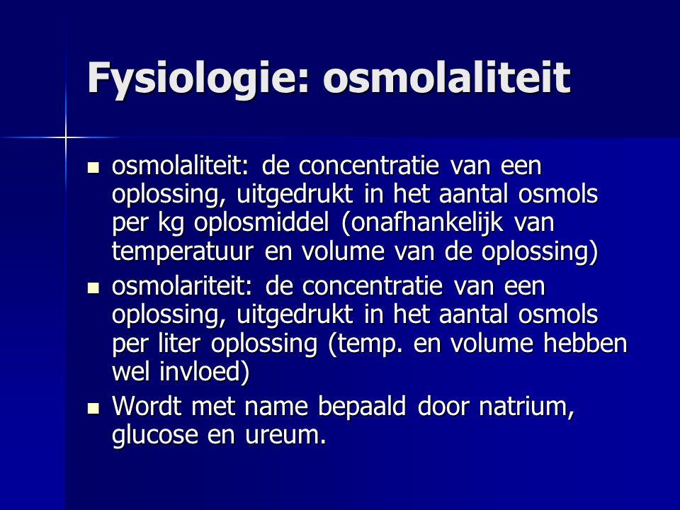 Fysiologie: osmolaliteit