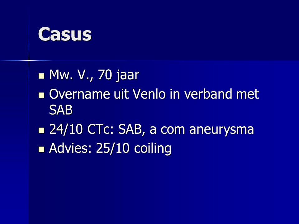 Casus Mw. V., 70 jaar Overname uit Venlo in verband met SAB