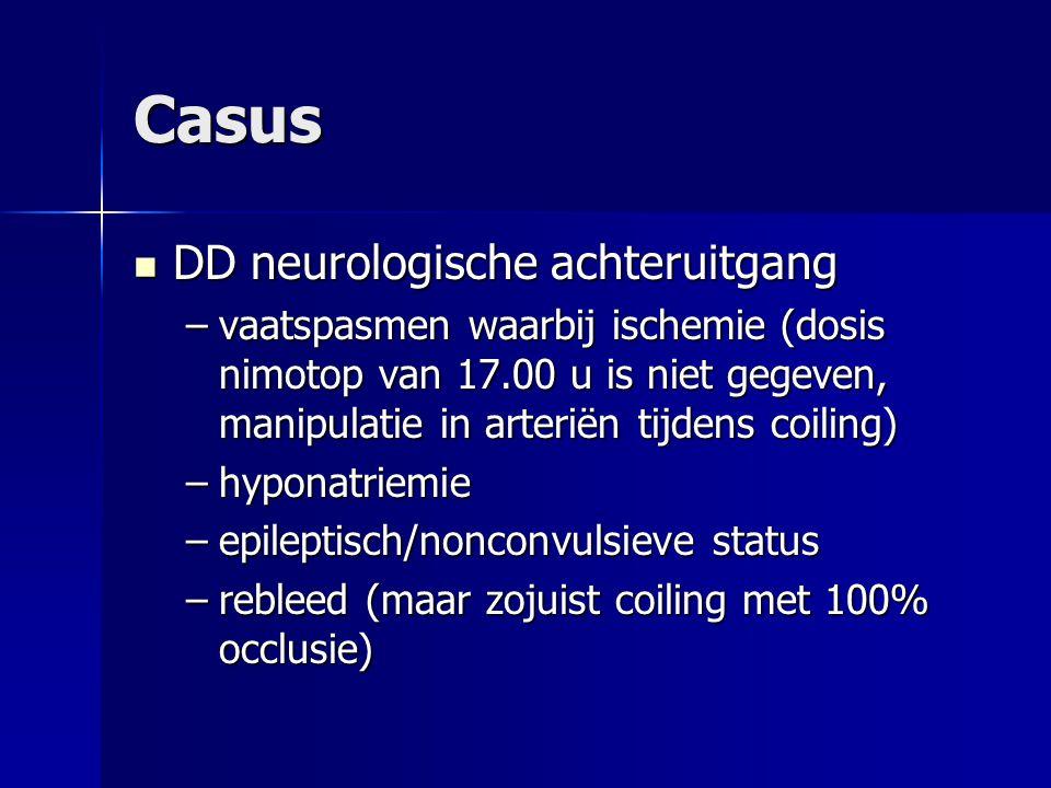 Casus DD neurologische achteruitgang