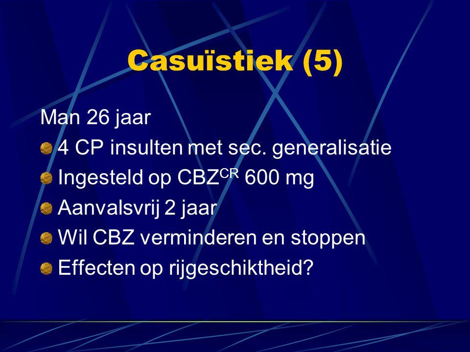 Casuïstiek (5) Man 26 jaar 4 CP insulten met sec. generalisatie