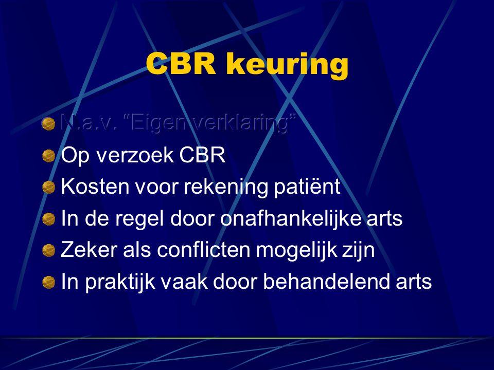 CBR keuring N.a.v. Eigen verklaring Op verzoek CBR
