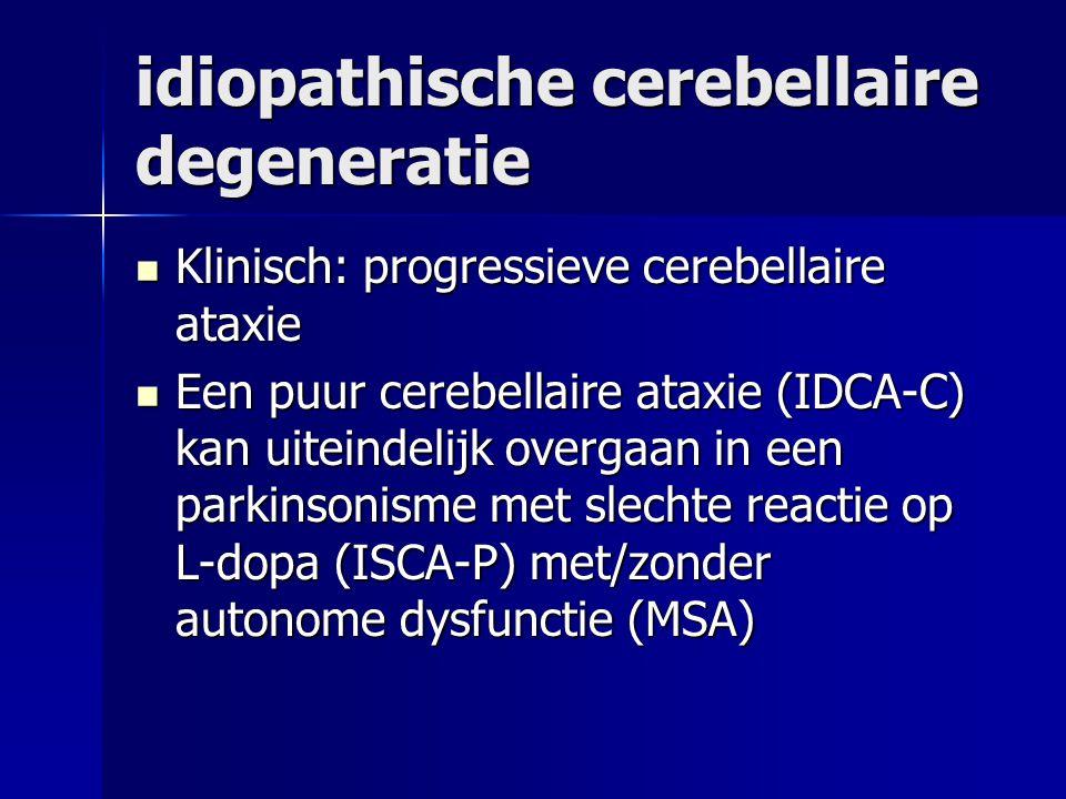 idiopathische cerebellaire degeneratie