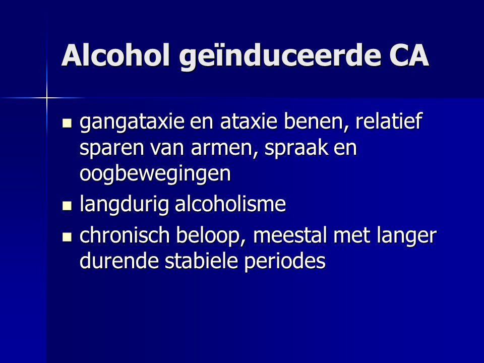 Alcohol geïnduceerde CA