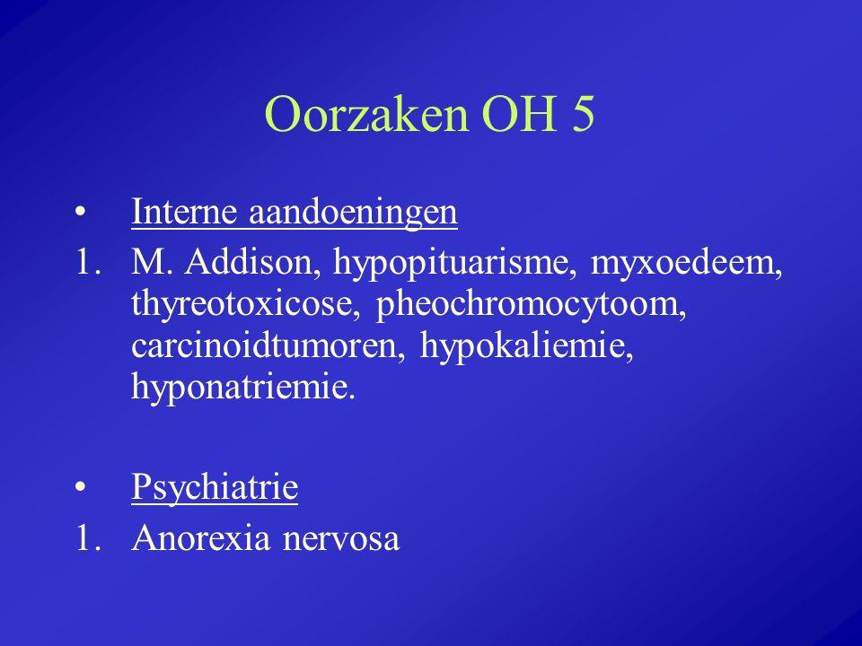 Oorzaken OH 5 Interne aandoeningen