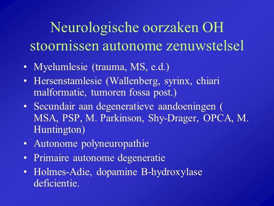 Neurologische oorzaken OH stoornissen autonome zenuwstelsel