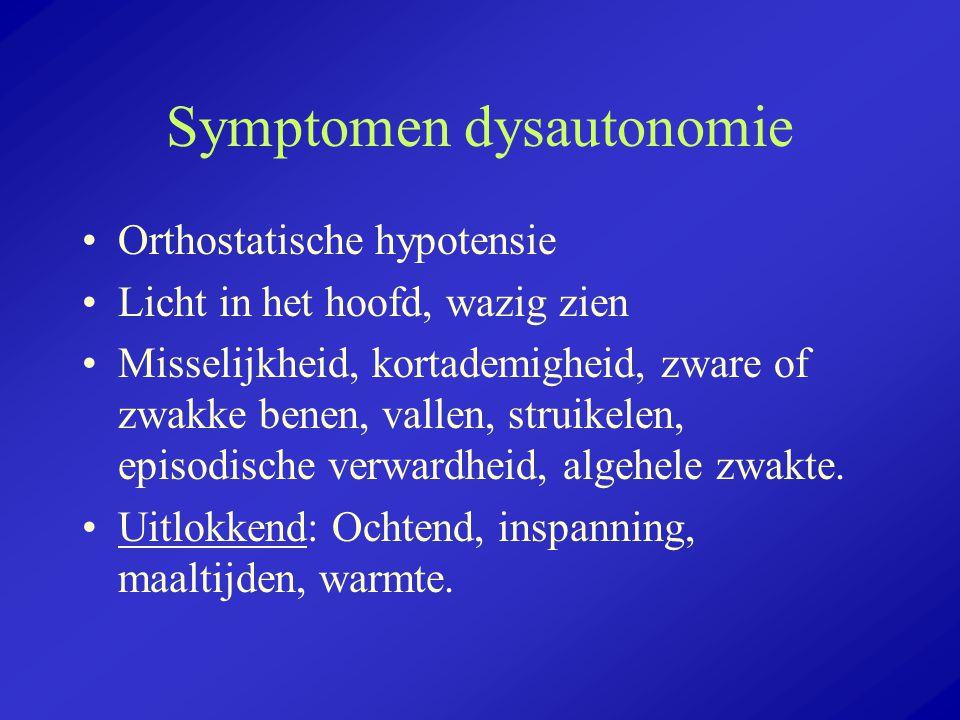 Symptomen dysautonomie