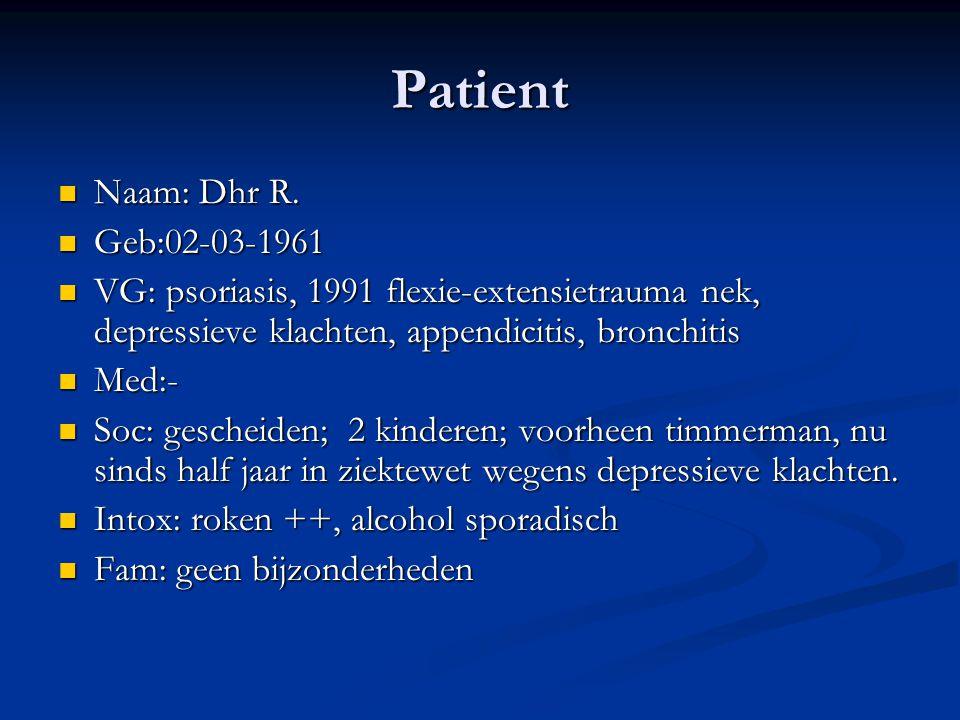 Patient Naam: Dhr R. Geb:02-03-1961