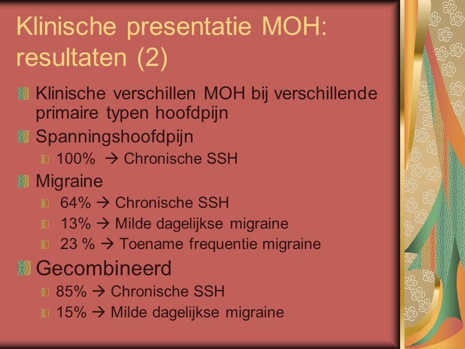 Klinische presentatie MOH: resultaten (2)