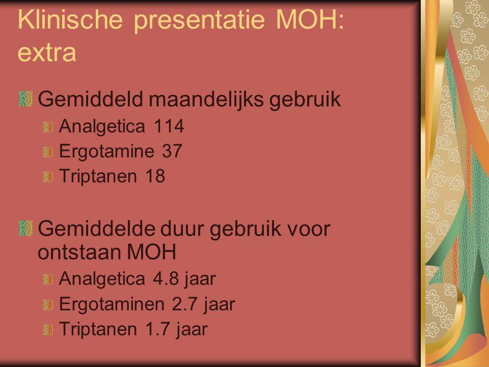 Klinische presentatie MOH: extra