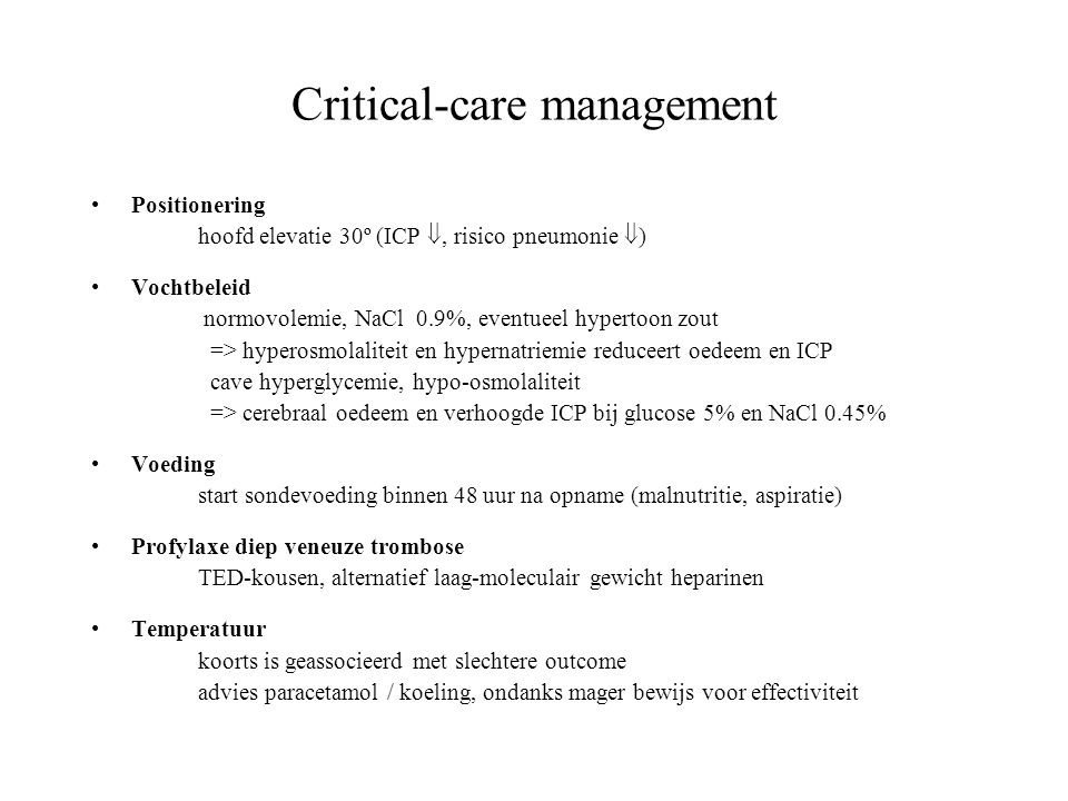 Critical-care management