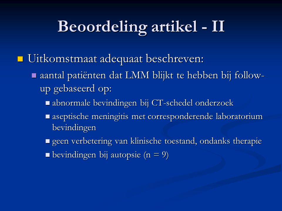 Beoordeling artikel - II