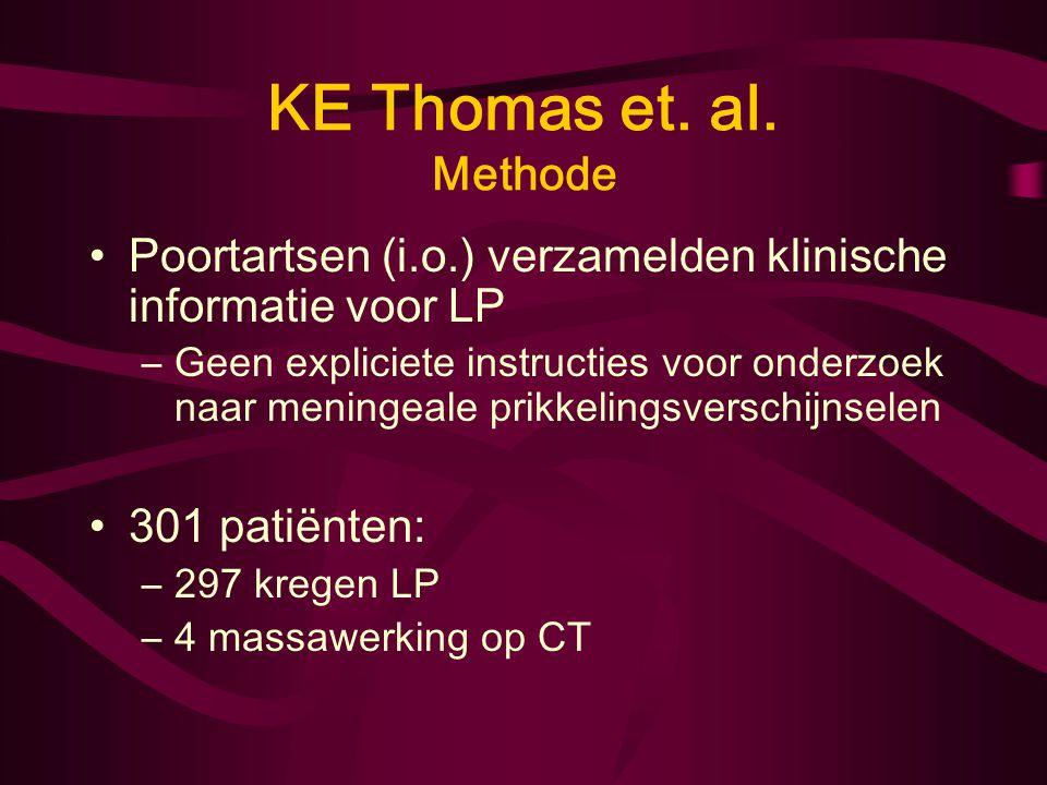 KE Thomas et. al. Methode Poortartsen (i.o.) verzamelden klinische informatie voor LP.