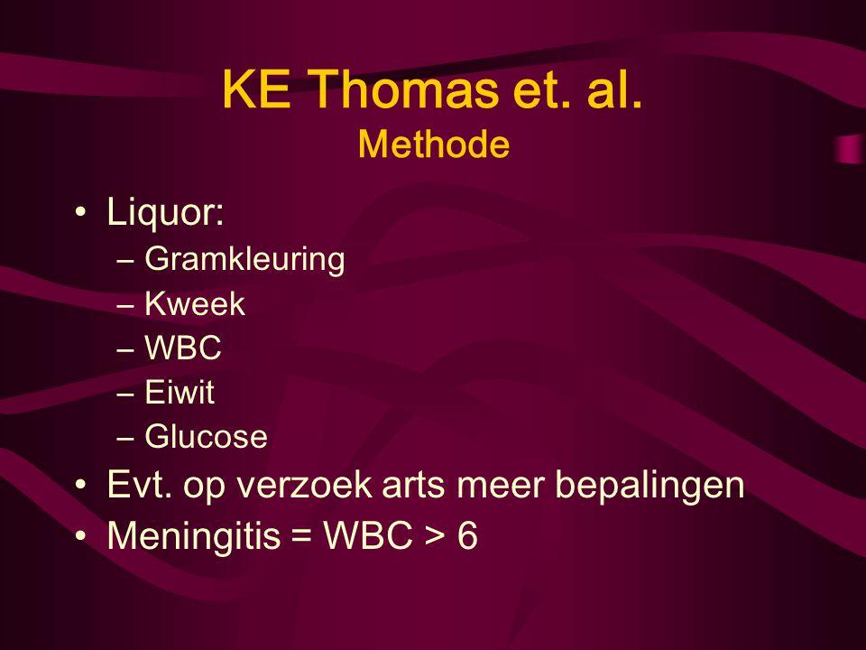 KE Thomas et. al. Methode Liquor: Evt. op verzoek arts meer bepalingen
