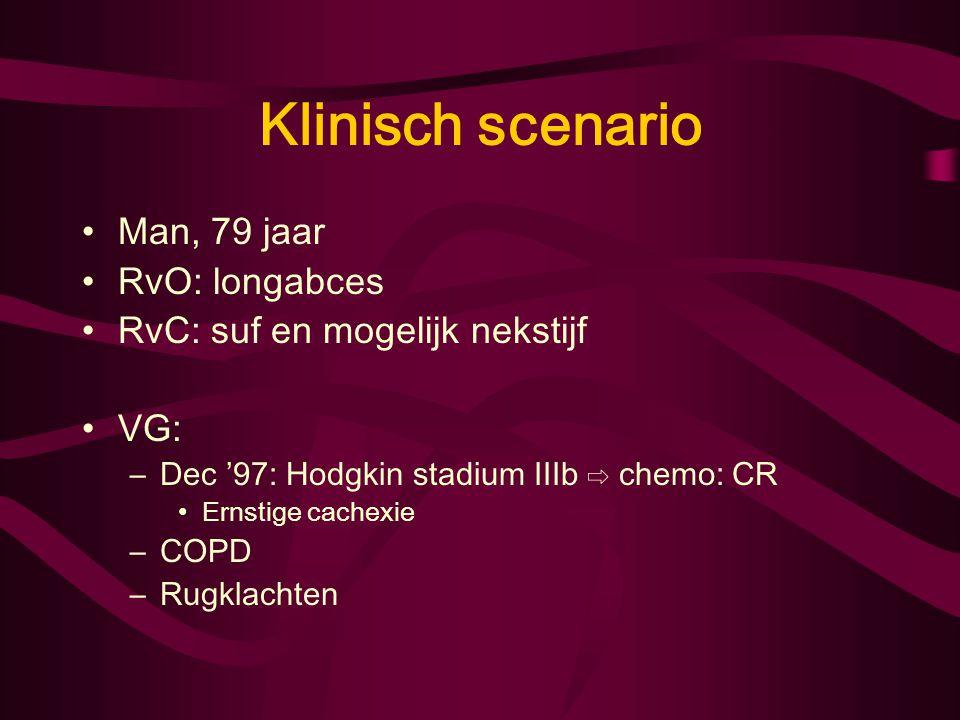 Klinisch scenario Man, 79 jaar RvO: longabces