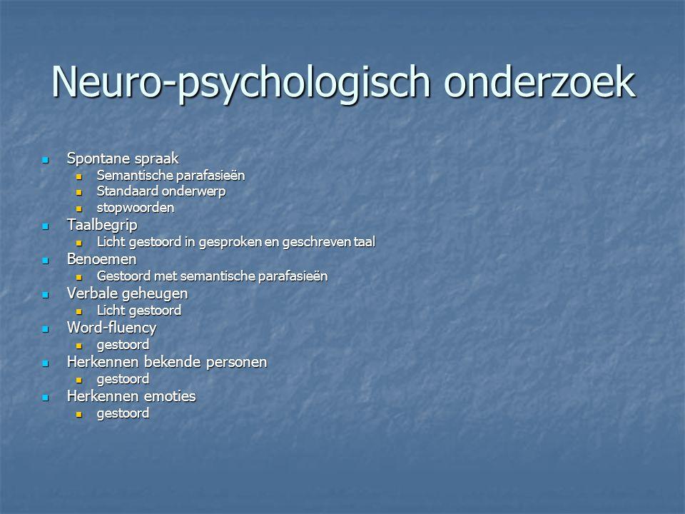 Neuro-psychologisch onderzoek