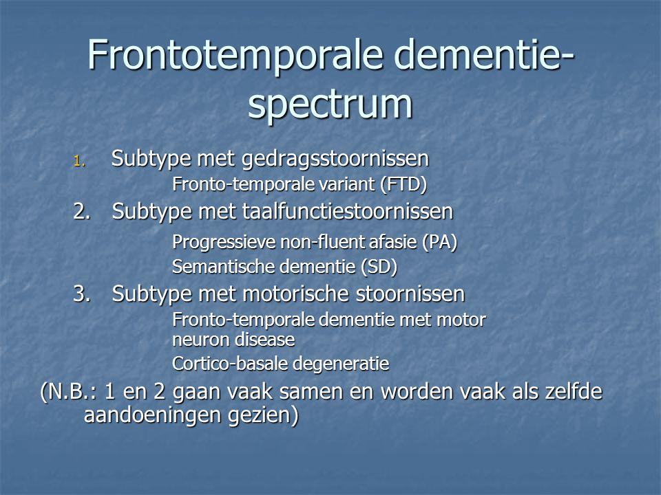 Frontotemporale dementie-spectrum
