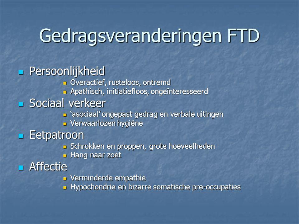 Gedragsveranderingen FTD