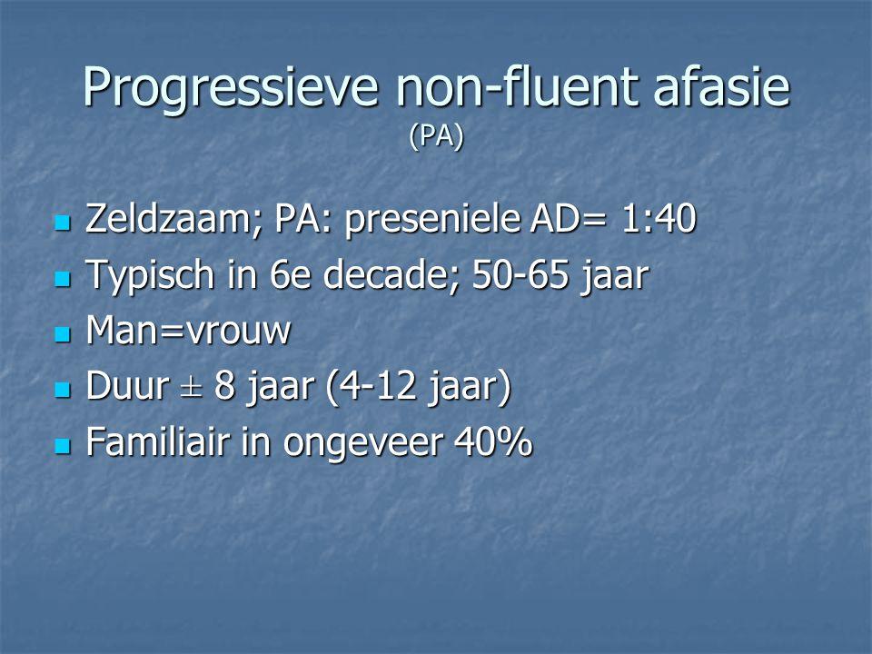 Progressieve non-fluent afasie (PA)