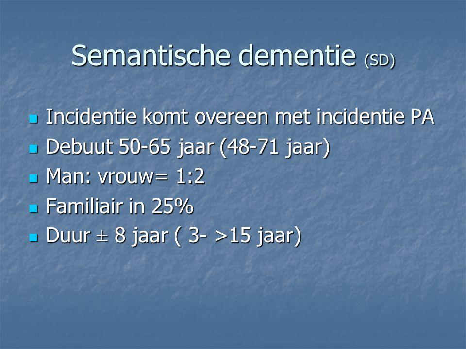 Semantische dementie (SD)