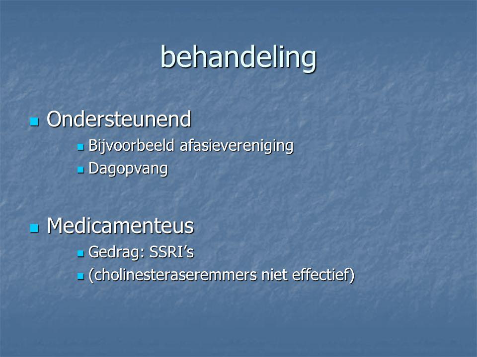 behandeling Ondersteunend Medicamenteus Bijvoorbeeld afasievereniging