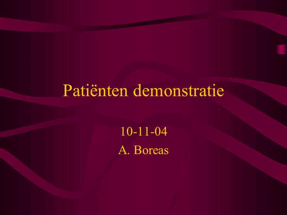 Patiënten demonstratie