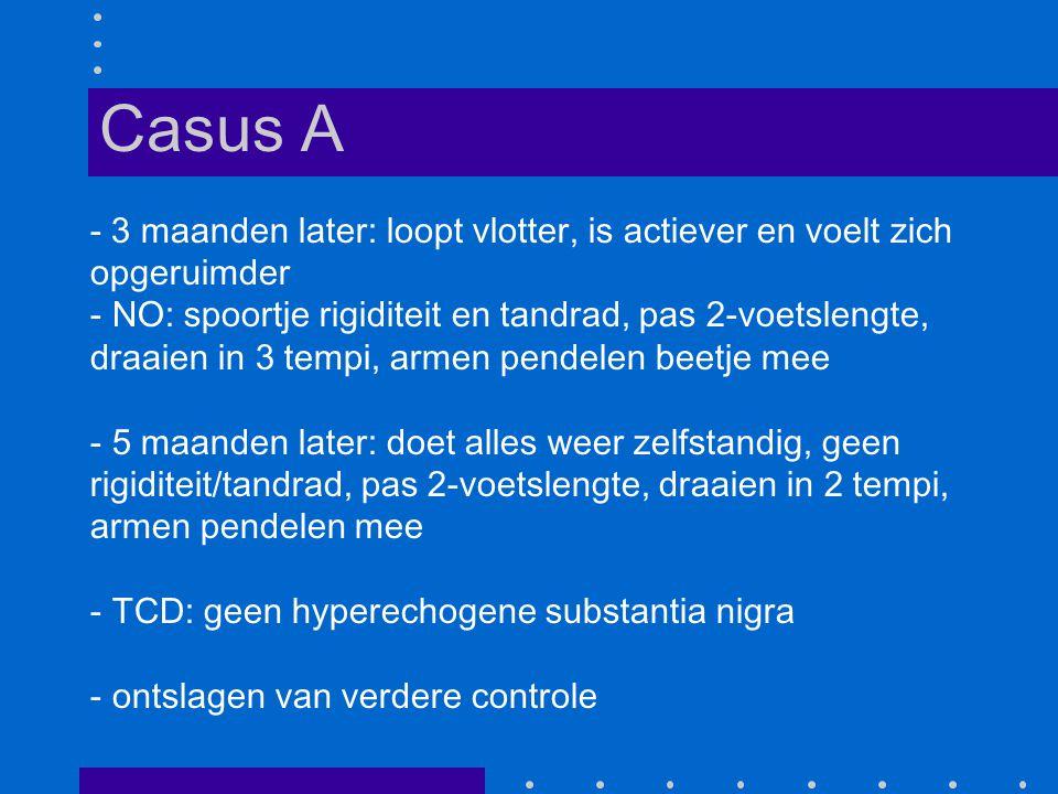Casus A - 3 maanden later: loopt vlotter, is actiever en voelt zich opgeruimder.
