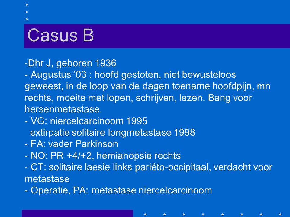 Casus B Dhr J, geboren 1936.