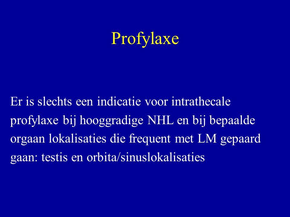 Profylaxe Er is slechts een indicatie voor intrathecale