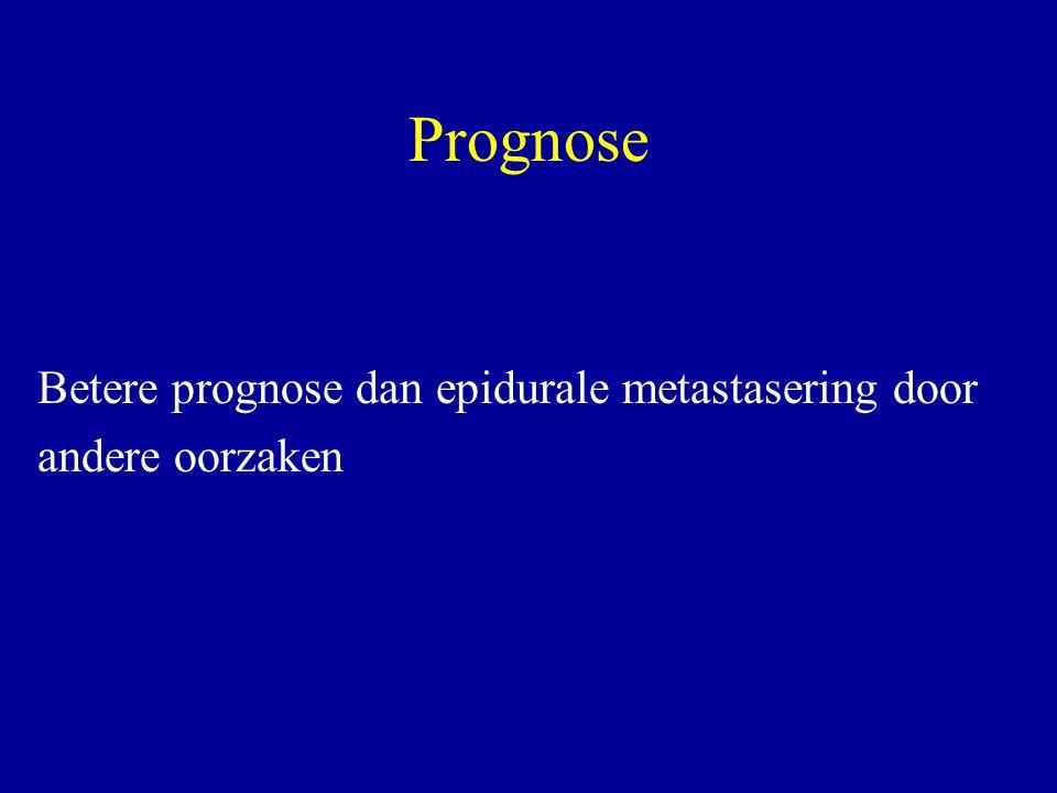Prognose Betere prognose dan epidurale metastasering door