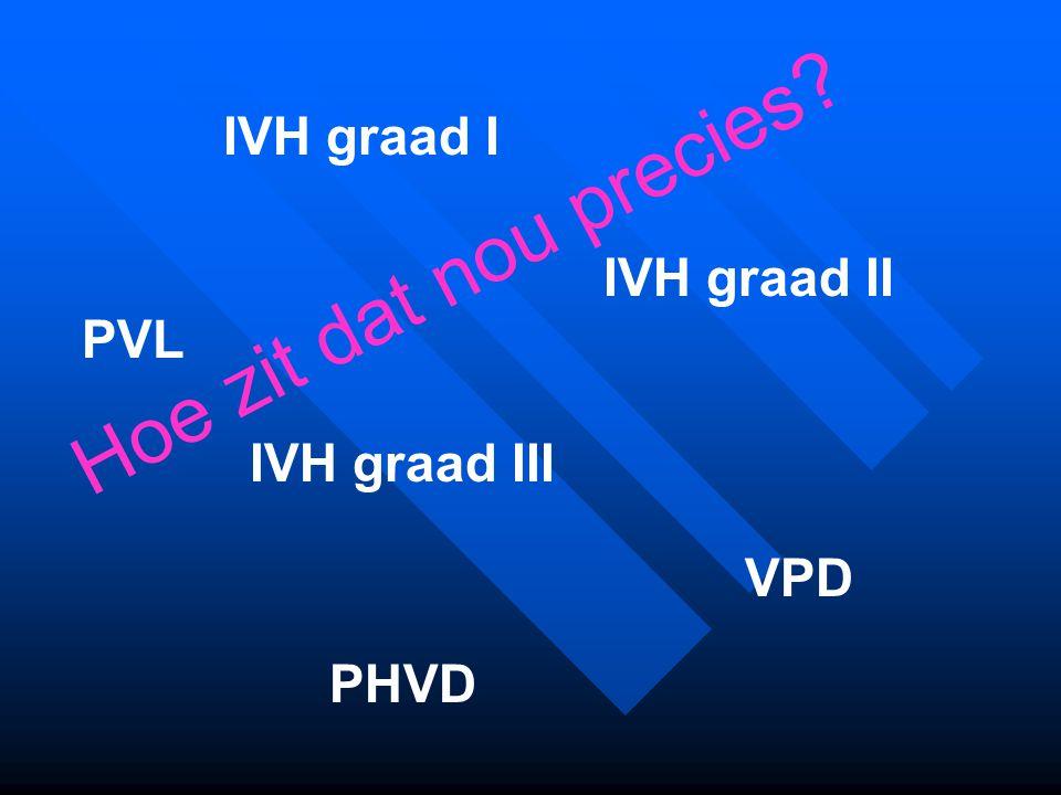Hoe zit dat nou precies IVH graad I IVH graad II PVL IVH graad III