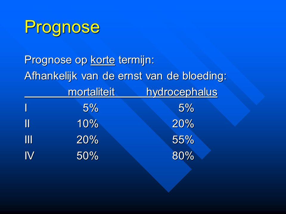 Prognose Prognose op korte termijn: