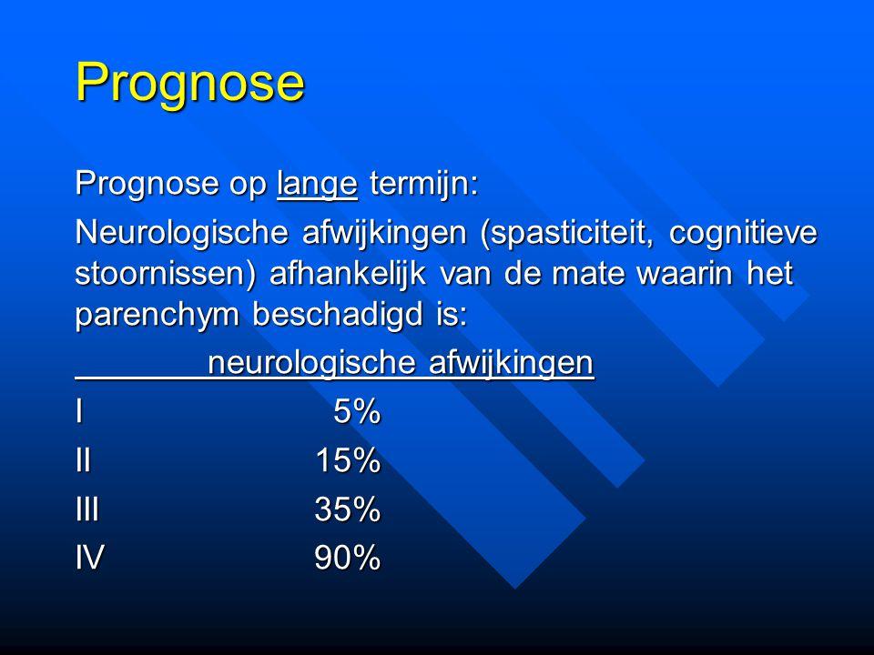 Prognose Prognose op lange termijn: