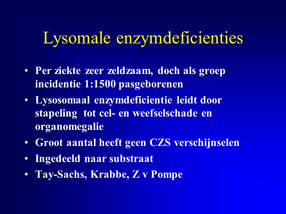 Lysomale enzymdeficienties