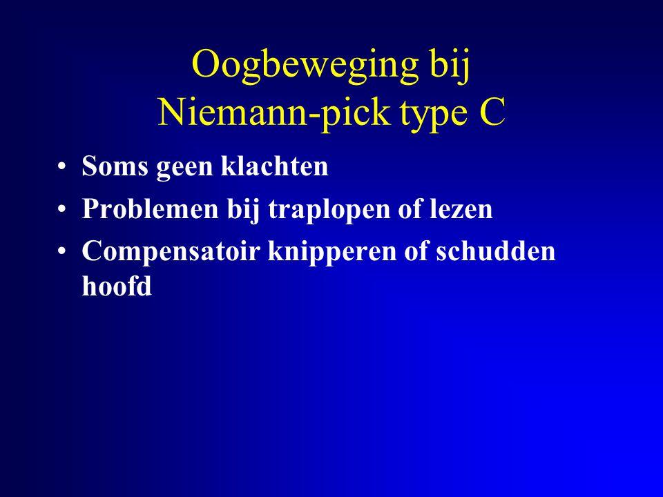 Oogbeweging bij Niemann-pick type C