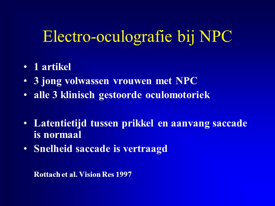 Electro-oculografie bij NPC