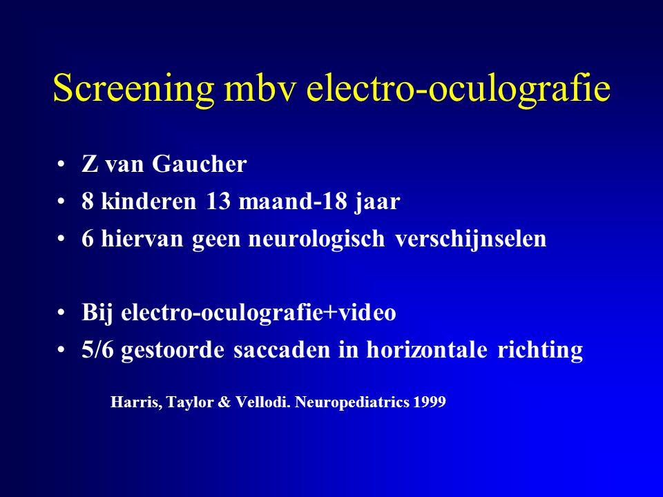 Screening mbv electro-oculografie