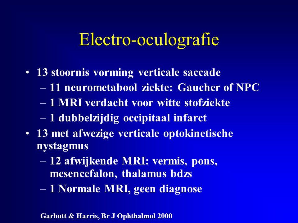 Electro-oculografie 13 stoornis vorming verticale saccade