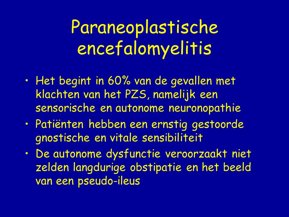 Paraneoplastische encefalomyelitis