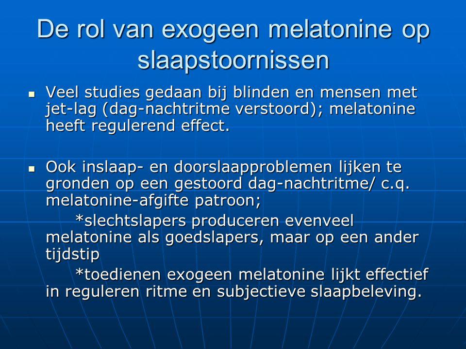De rol van exogeen melatonine op slaapstoornissen