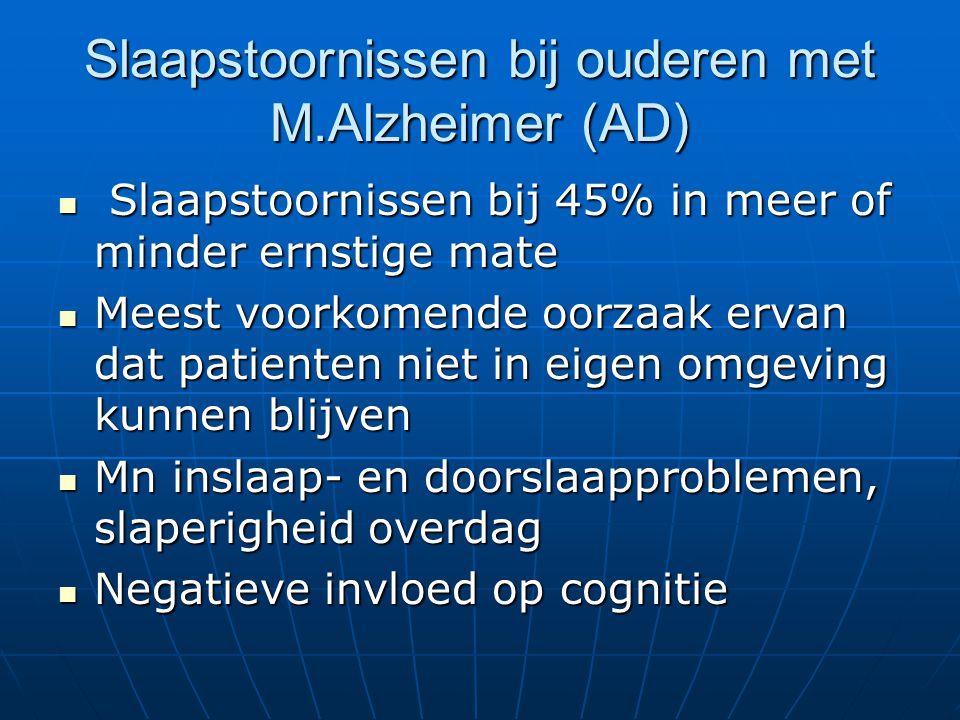 Slaapstoornissen bij ouderen met M.Alzheimer (AD)