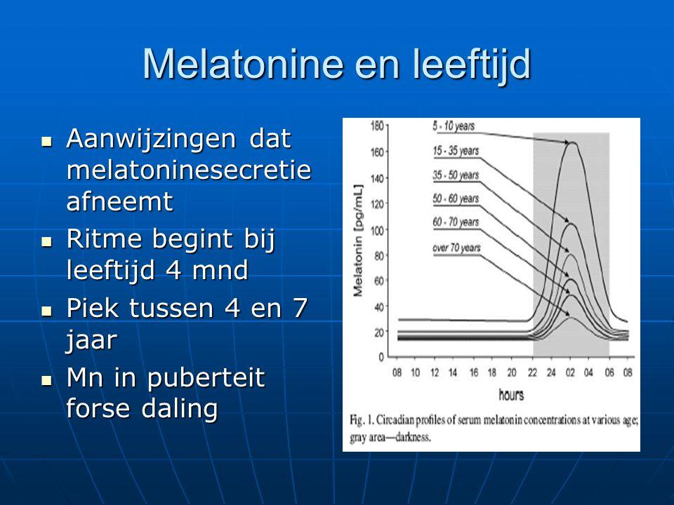 Melatonine en leeftijd