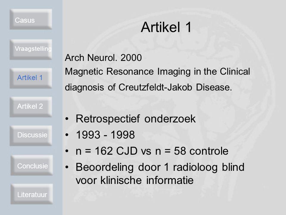 Artikel 1 Retrospectief onderzoek 1993 - 1998