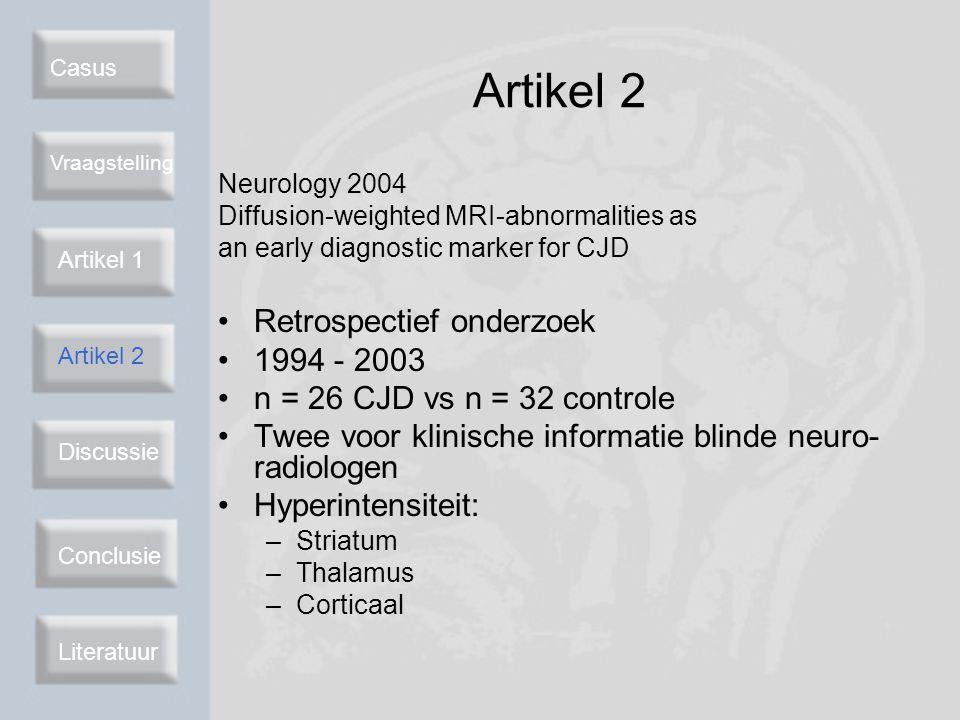 Artikel 2 Retrospectief onderzoek 1994 - 2003