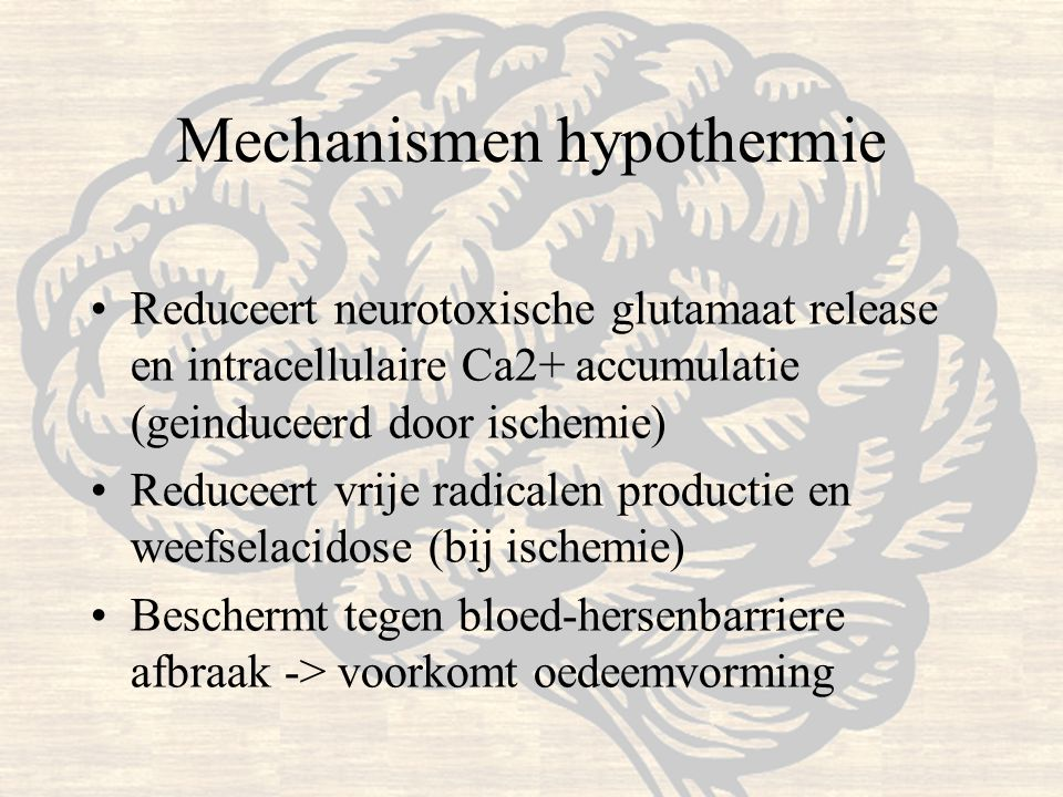 Mechanismen hypothermie