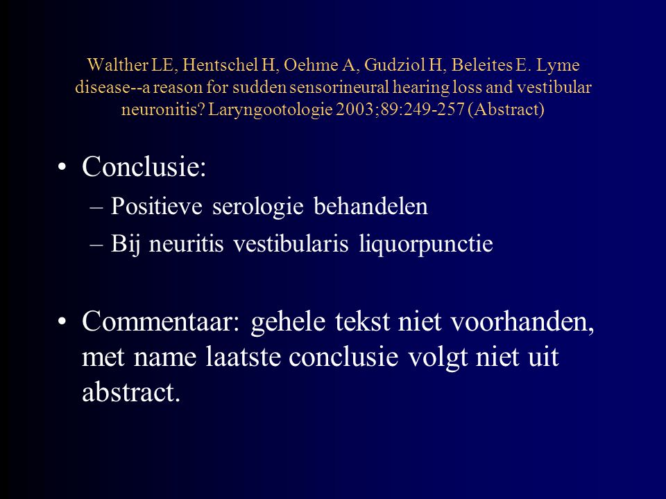 Walther LE, Hentschel H, Oehme A, Gudziol H, Beleites E