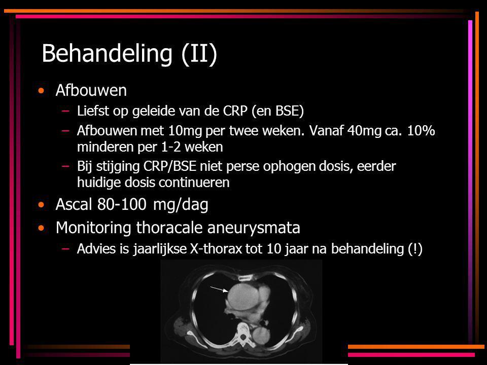 Behandeling (II) Afbouwen Ascal 80-100 mg/dag