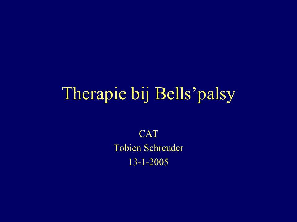 Therapie bij Bells'palsy